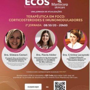 Participação como palestrante no webinar Ecos Mantecorp, ao lado das professoras Silmara Cestari e Cristina Laczynski