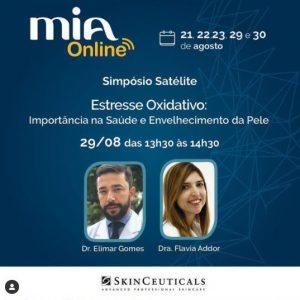 Participação como palestrante no Simpósio Satélite, sobre Estresse Oxidativo, no Mia Online, como Dr. Elimar Gomes