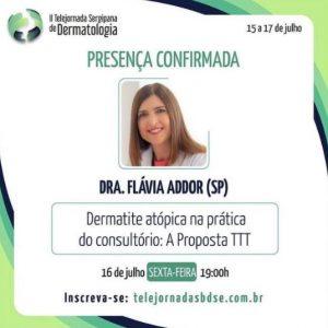 II Telejornada Sergipana de Dermatologia - palestra sobre a Dermatite Atópica na prática do consultório