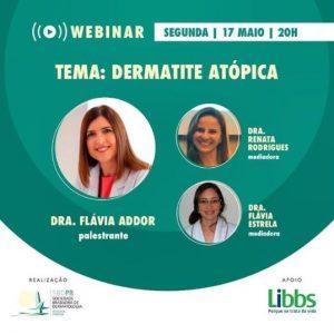 Palestrante no webinar da SBDPB, sobre Dermatite Atópica